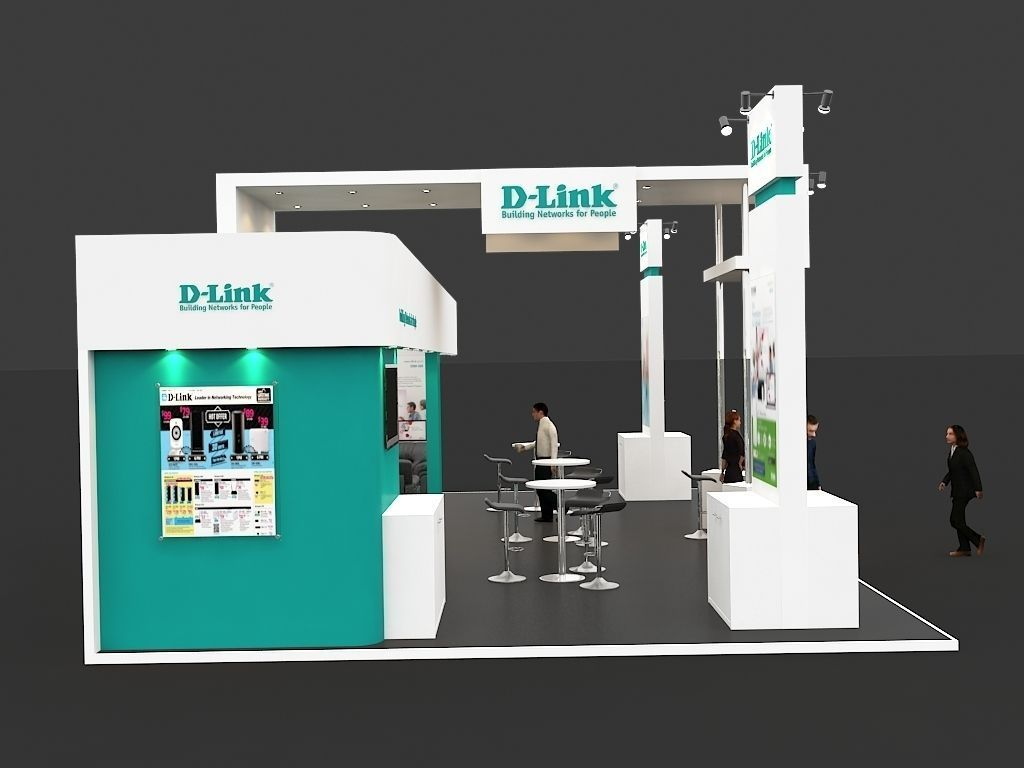 Exhibition Stall Games : Exhibition stall d model max cgtrader