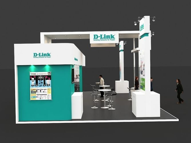 Large Exhibition Stall : Exhibition stall d model max cgtrader