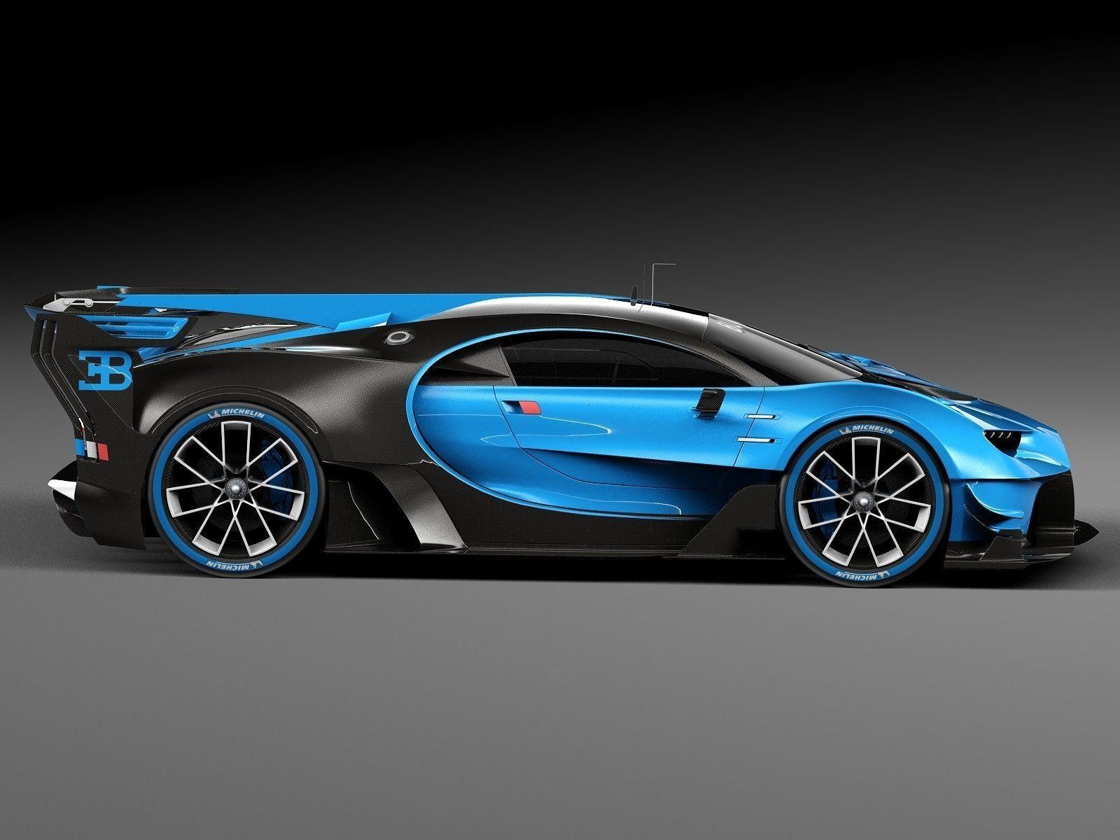 bugatti chiron race car 2017 3d model max obj 3ds fbx c4d lwo lw lws