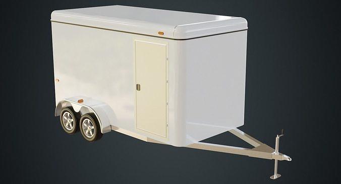 cargo trailer 1 3d model obj mtl fbx blend 1