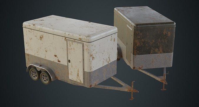 cargo trailer 1b 3d model low-poly obj mtl fbx blend 1