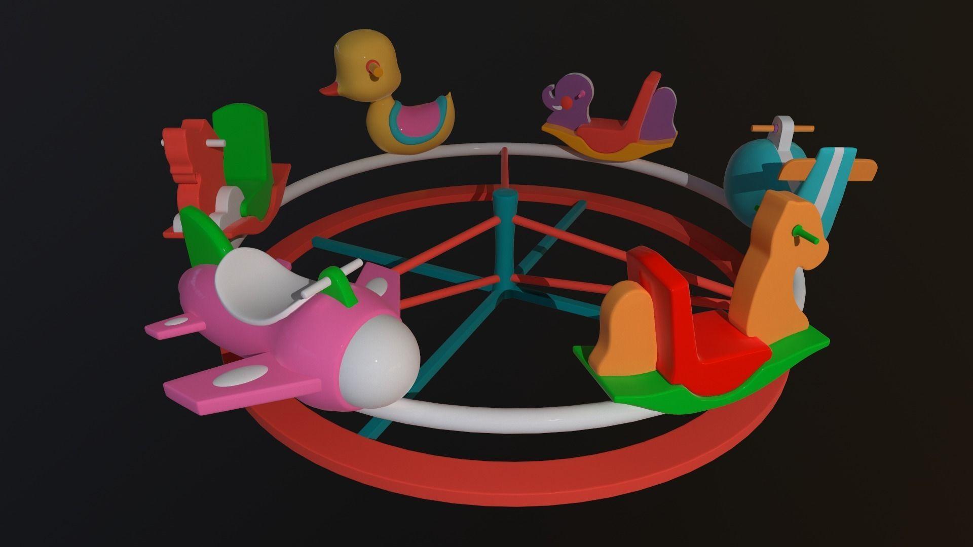Asset - Cartoons - Toys -Ferris wheel - 3D Model - Rig
