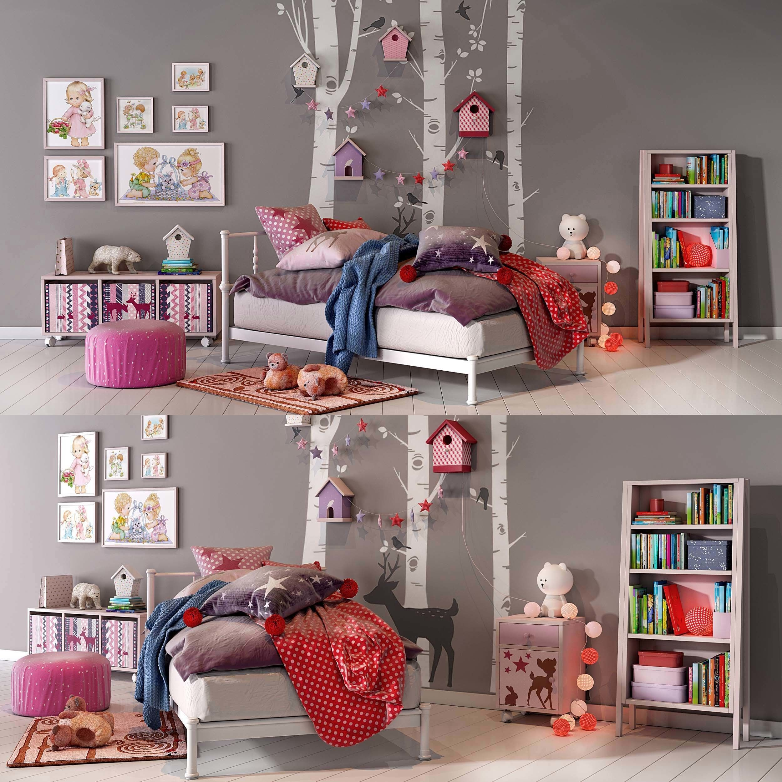 Girl bedroom set 02