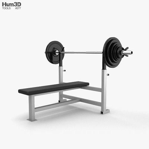 weight training bench 3d model max obj mtl 3ds fbx c4d lwo lw lws 1