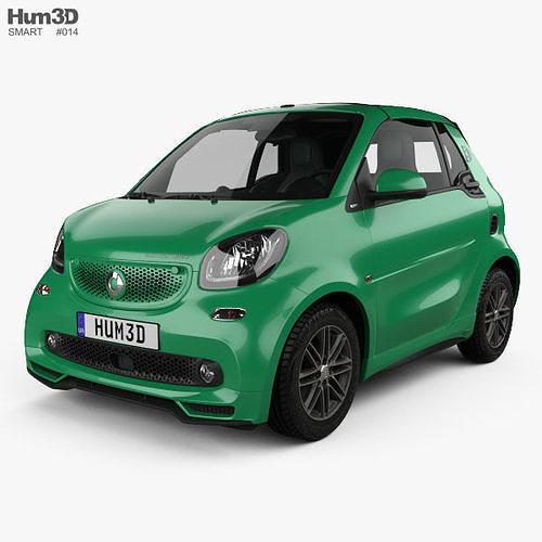 smart fortwo brabus electric drive cabriolet 2017 3d model max obj mtl 3ds fbx c4d lwo lw lws 1