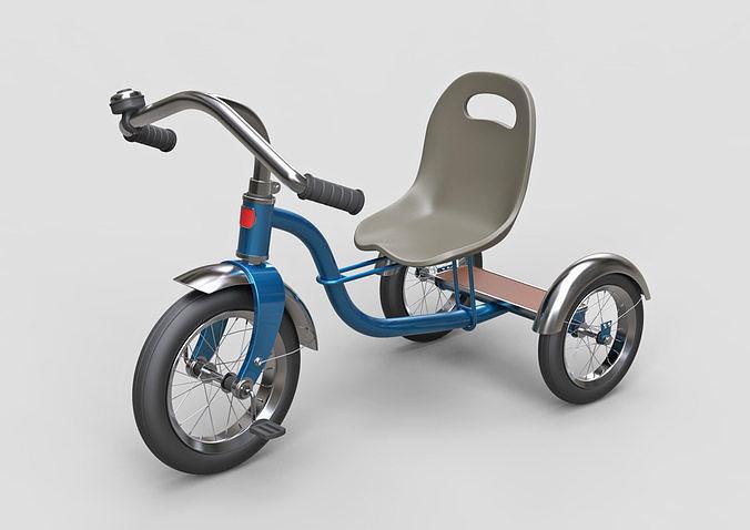 childrens tricycle 3d model max obj mtl fbx c4d 1