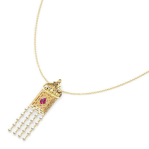 Asher Ornate Lawn Necklace