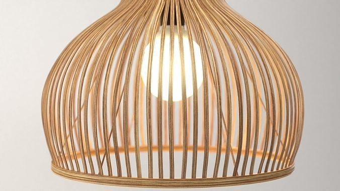 bamboo lamp odeon light alamo 3d model max obj mtl fbx 1