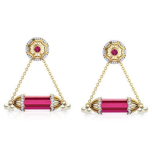 Hawala Gulabika Drop Earrings