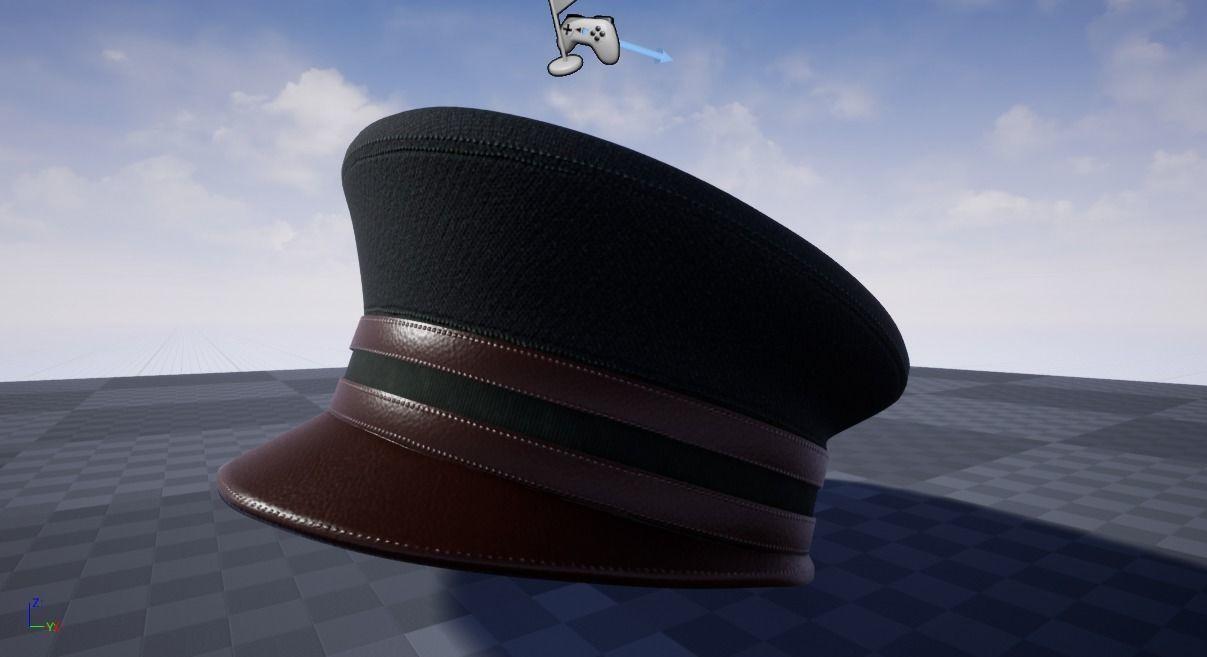 b56b92000ba ... military hat 3d model max obj mtl fbx ztl unitypackage prefab uasset 6  ...