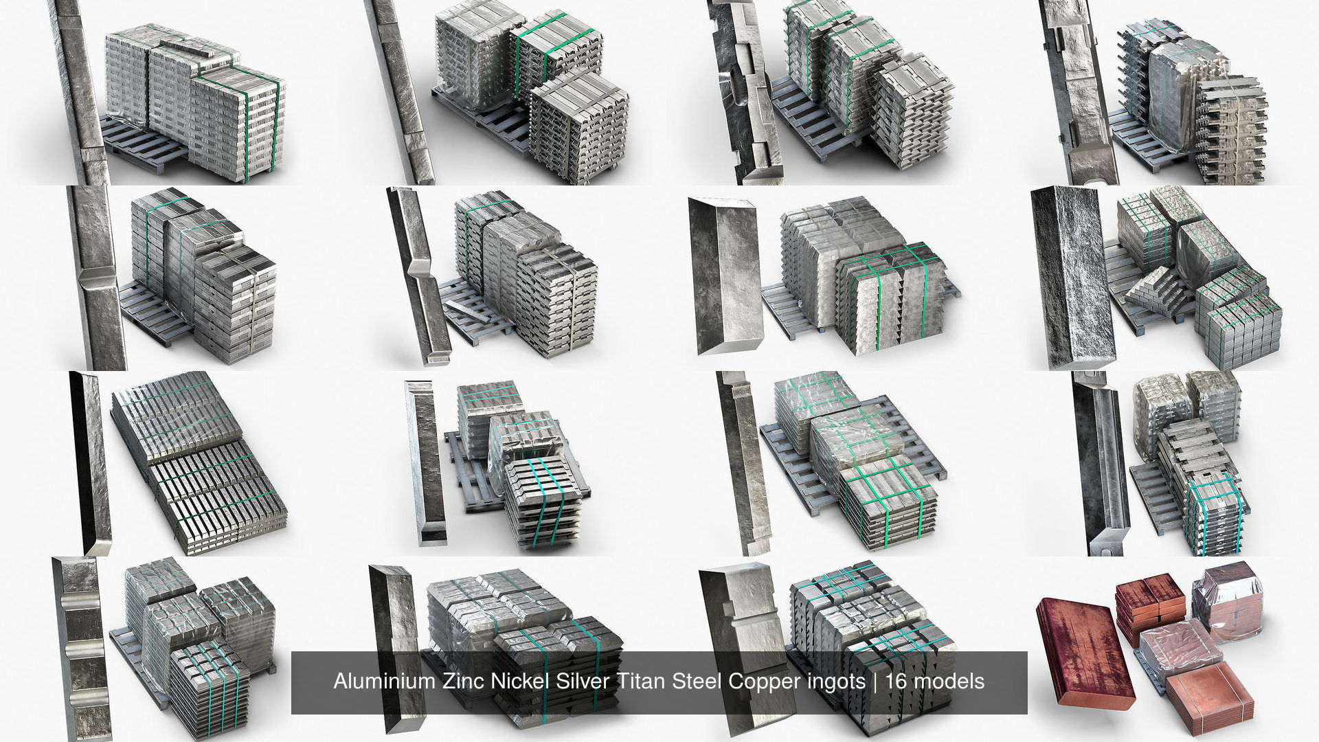 Aluminium Zinc Nickel Silver Titan Steel Copper ingots