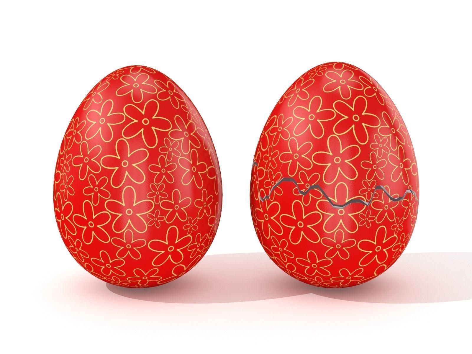 Easter Egg Cracked N010 | 3D model