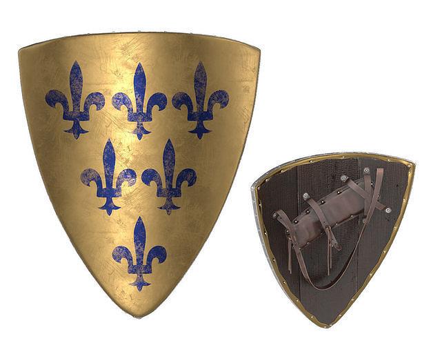 triangular knight shield 3d model max obj mtl fbx mdl 1