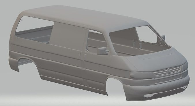 volkswagen t4 printable body van 3d model max fbx stl 1