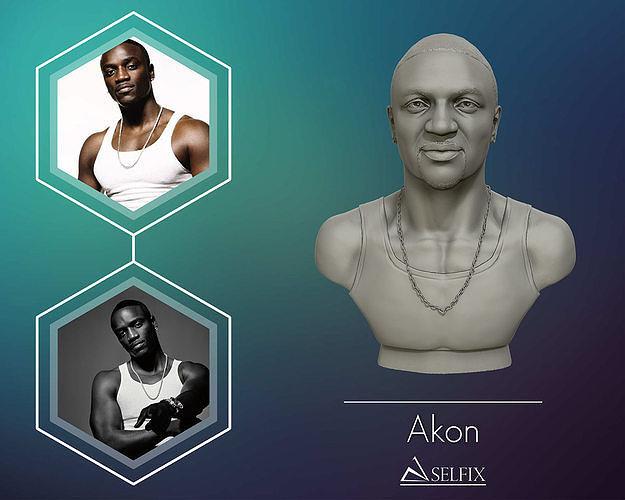 Akon 3D Bust Sculpture