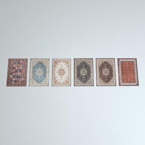 6 scottish rugs 3d model low-poly obj mtl 3ds fbx c4d dxf stl 1