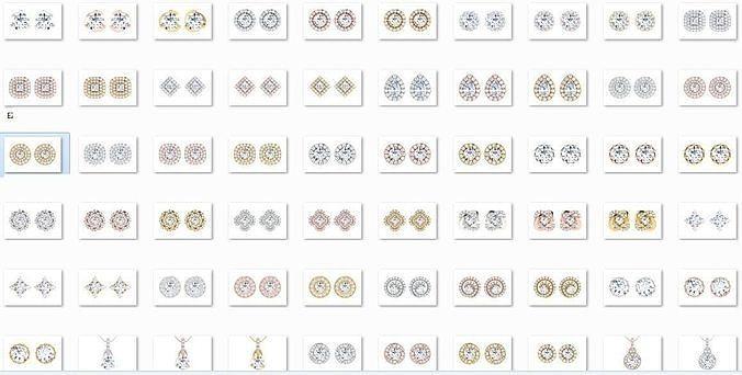 19 solitaire pendant earrings set 3dm stl details bulk