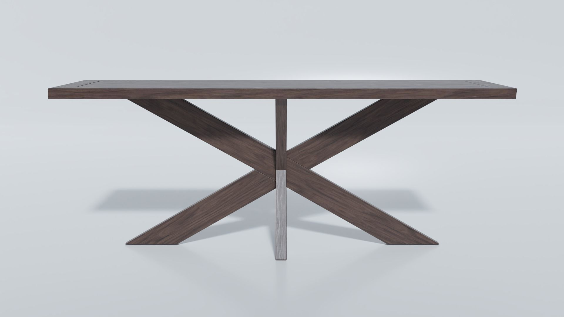 1960s French X Base Console Table by Restoration Hardware