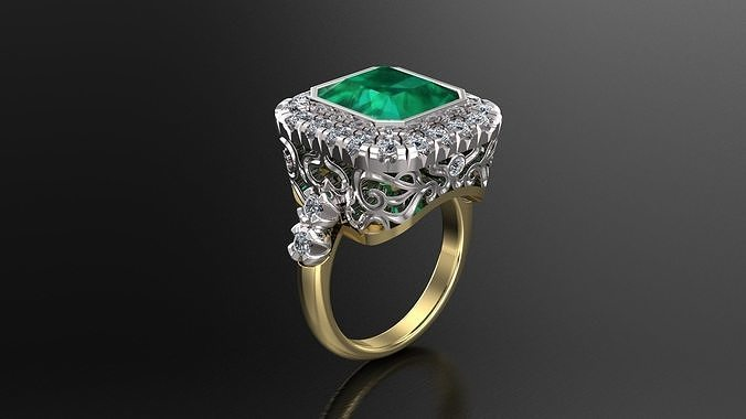 Engagement Luxury Ring With Diamonds