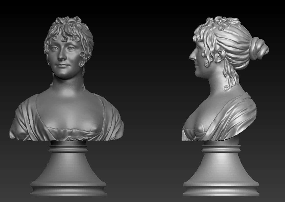 Bust of Woman 3d model