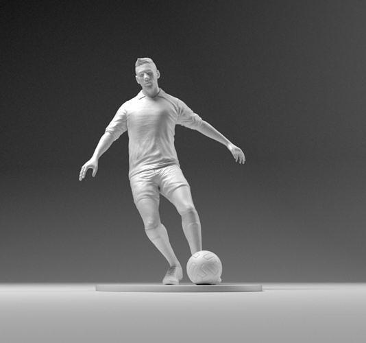 footballer 03 footstrike 01 stl 3d model obj mtl stl 3mf 1