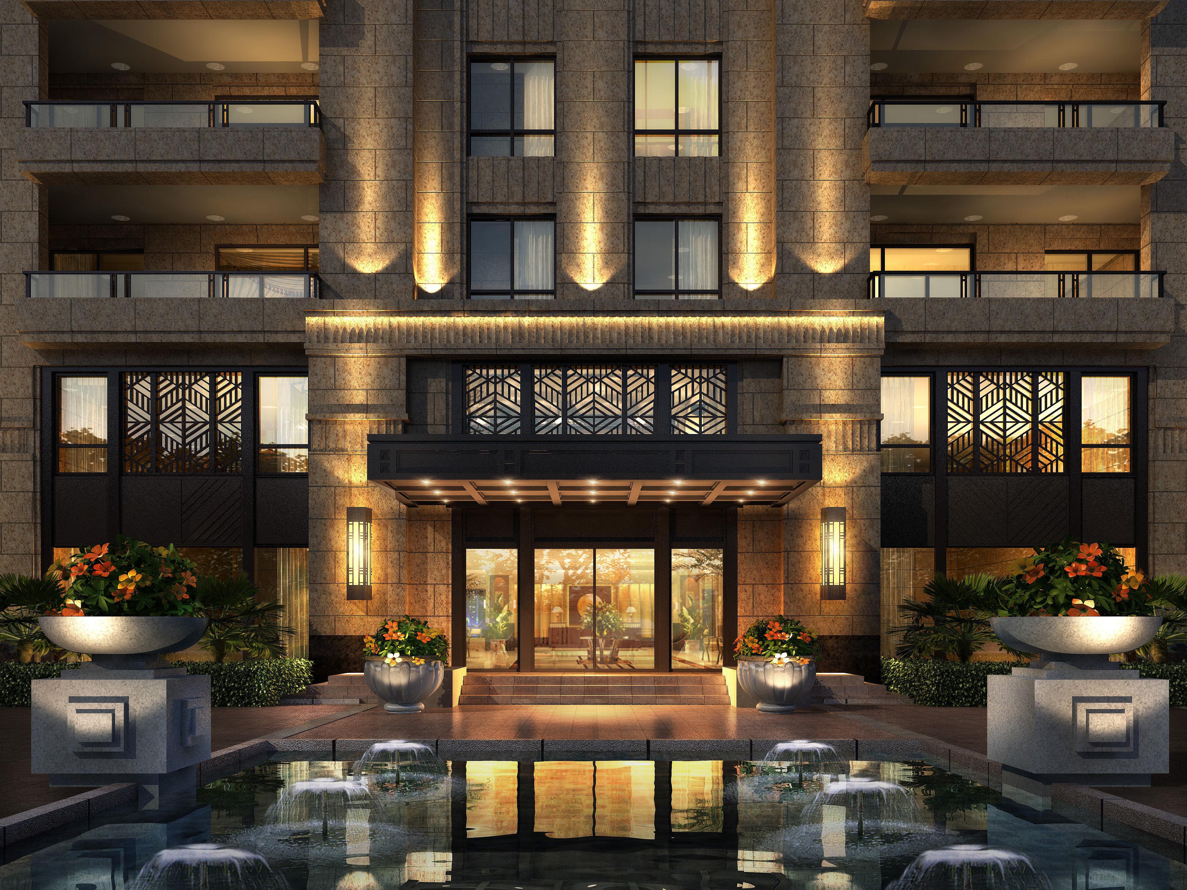 City luxury hotel villa design office 11 3d model max for City hotel design
