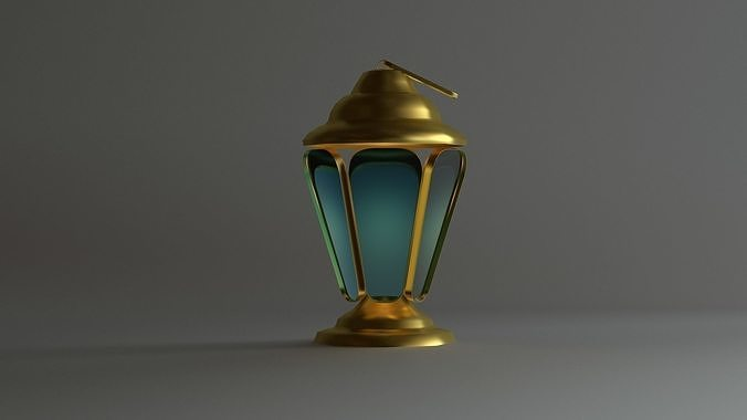 Islamic  Ramadan Lantern 3D Model