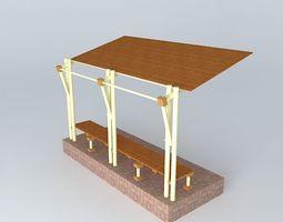 transport Bus shelter 3D