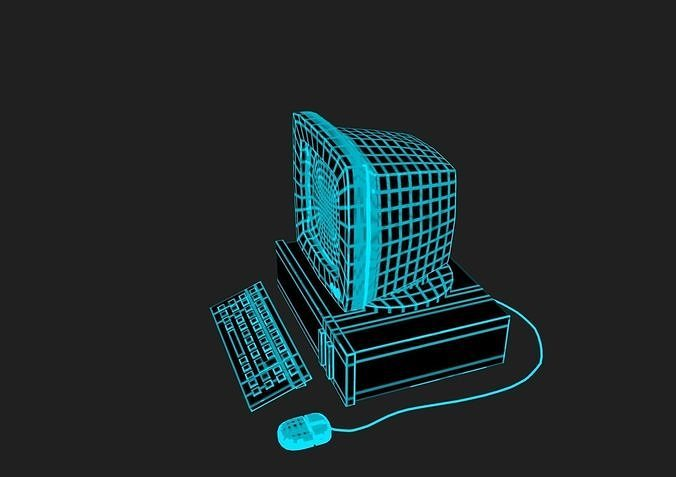 Vaporwave PC in 7 colours | 3D model