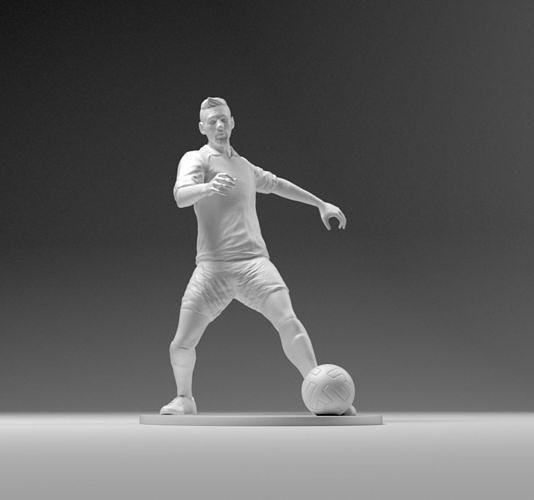 Footballer 03 Footstrike 02 Stl