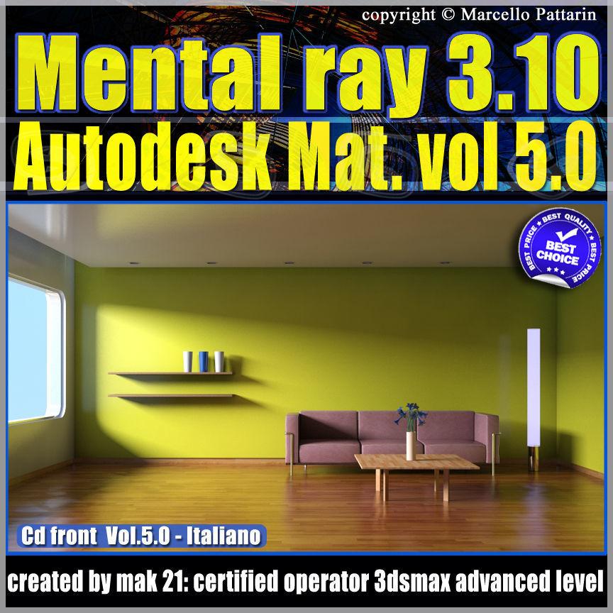 Mental Ray 310 3dsmax 2013 V 5 Materiali Autodesk cd front