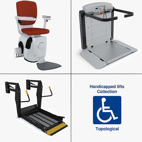 handicapped lifts collection 3d model max obj mtl fbx 1
