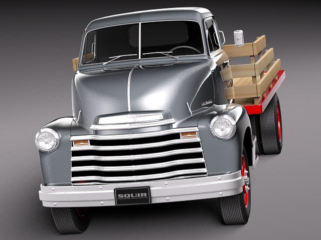 Chevrolet Coe Truck 1950 3d Model Obj 3ds Fbx C4d Lwo Lw