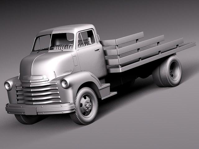 Chevrolet Coe Truck 1950 3d Model Obj 3ds Fbx C4d Lwo