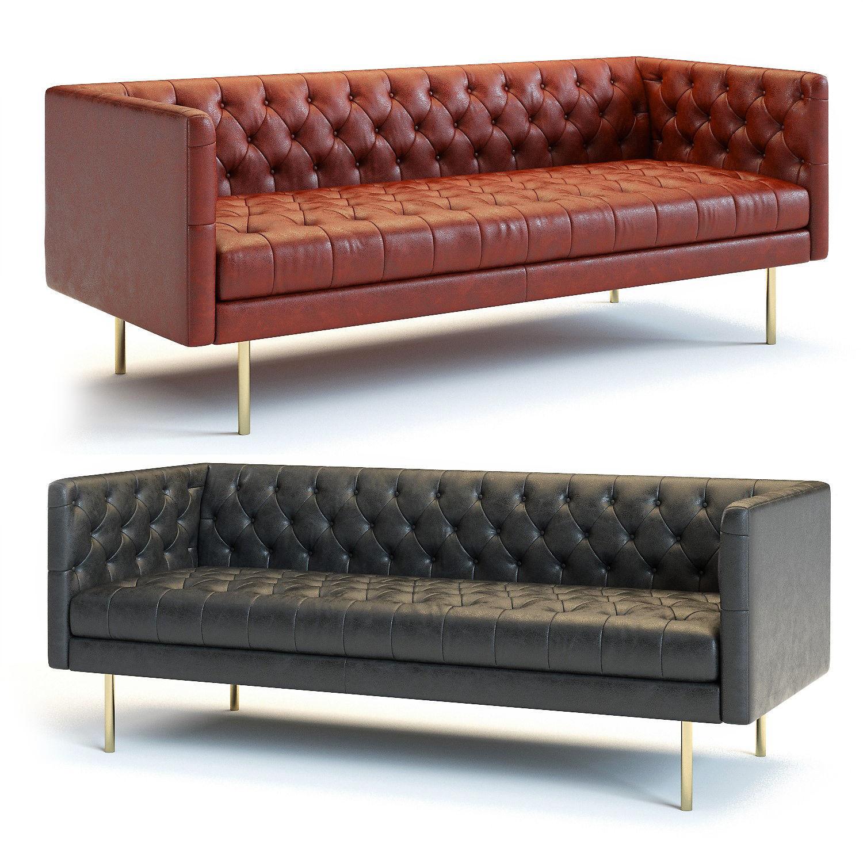West Elm - Modern Chesterfield Sofa | 3D model