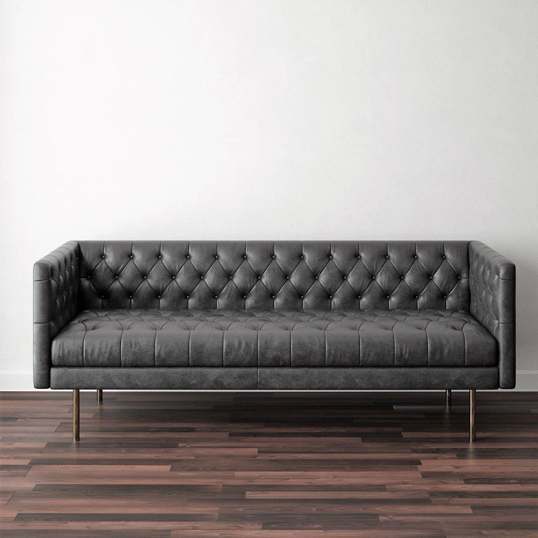 West Elm - Modern Chesterfield Sofa 3D model | CGTrader