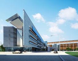 City fashion office hotel Landscape Architectural Design 113 3D Model