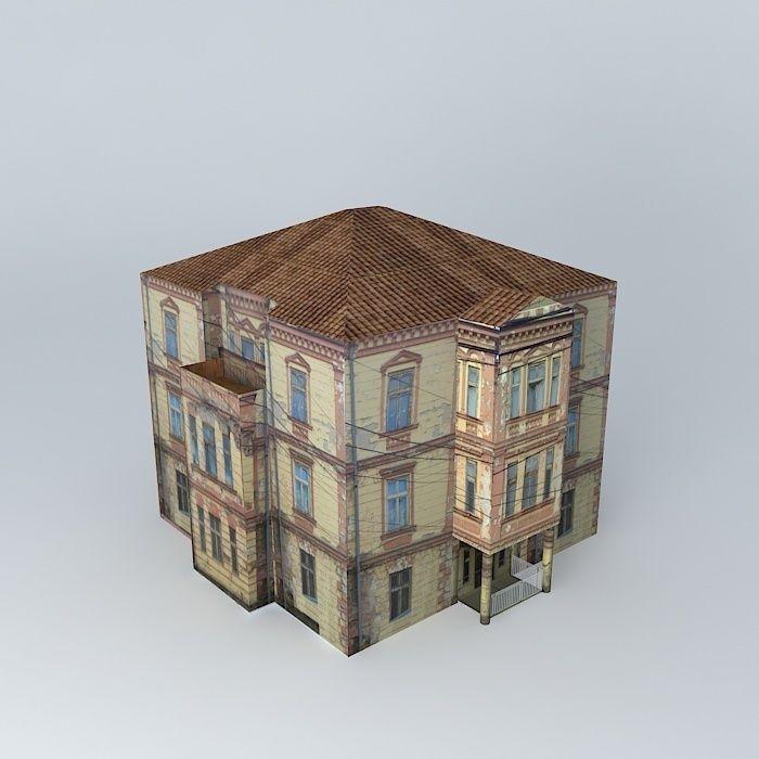 Old Building Design Free 3d Model Max Obj 3ds Fbx Stl