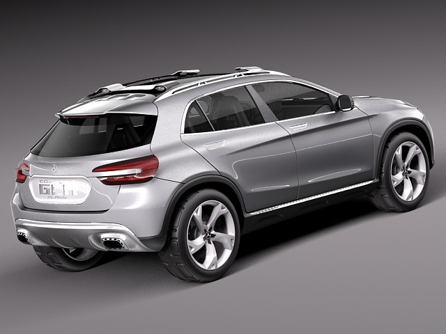 Mercedes Benz Gla Concept 2013 3d Model Max Obj 3ds