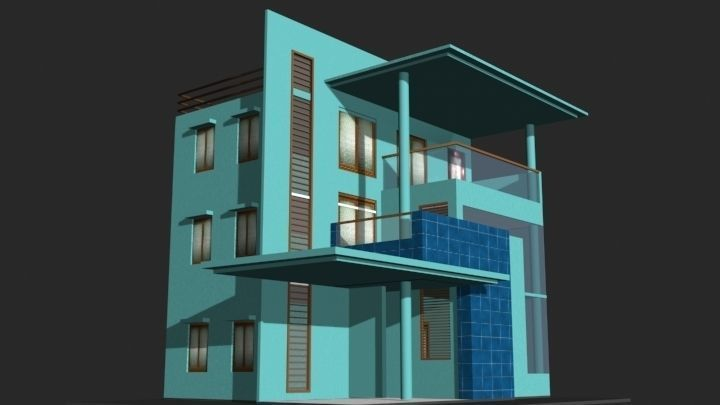 3d Building 3 3d Model Game Ready Obj Fbx