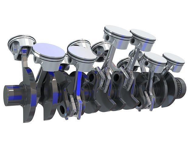 v12 engine cylinders 3d model max obj mtl 3ds c4d lwo lw lws ma mb 1