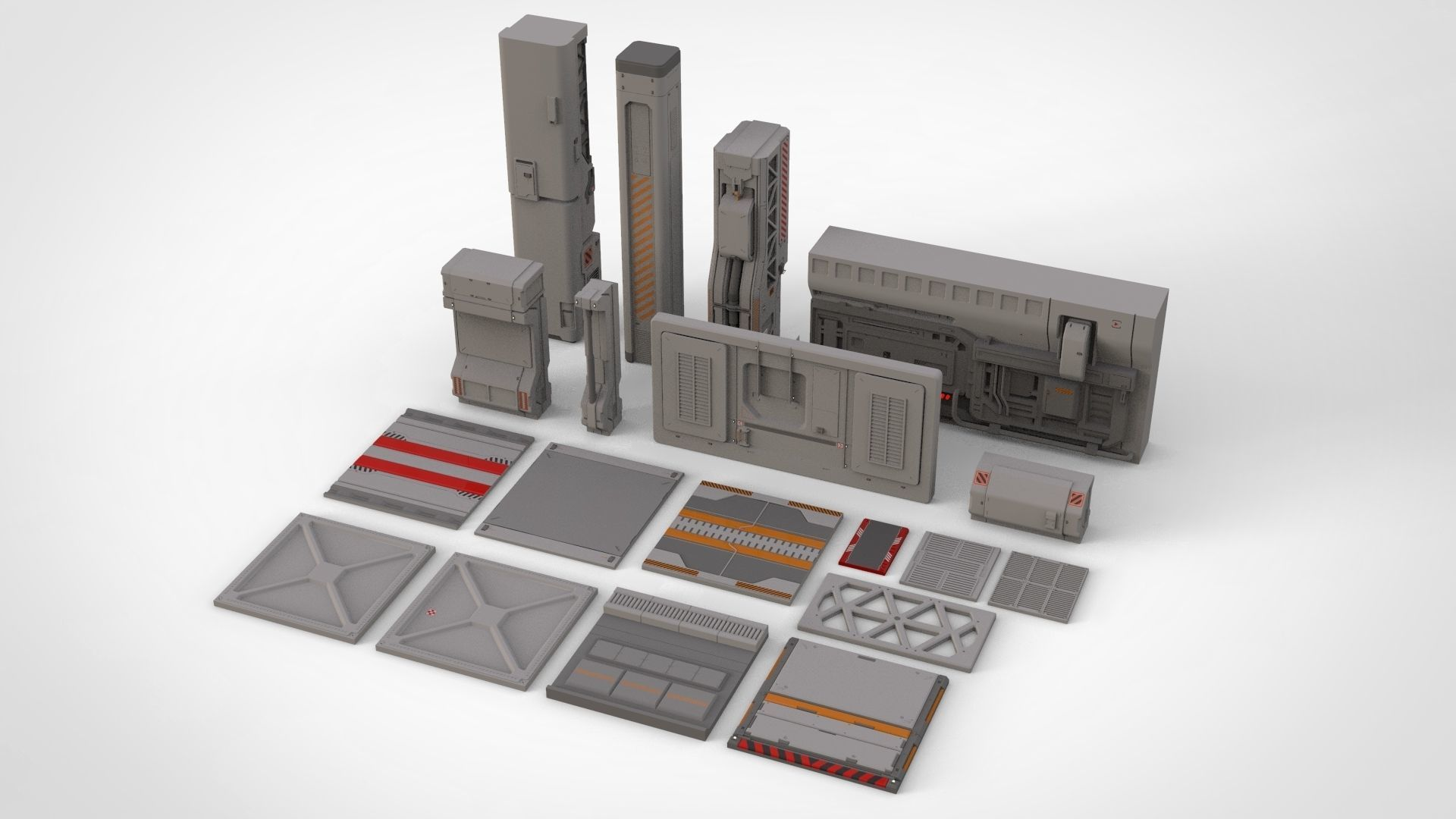 sci-fi Architecture kitbash 24