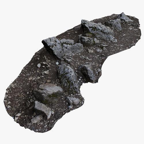 rocky ground 3d model max obj mtl fbx 1