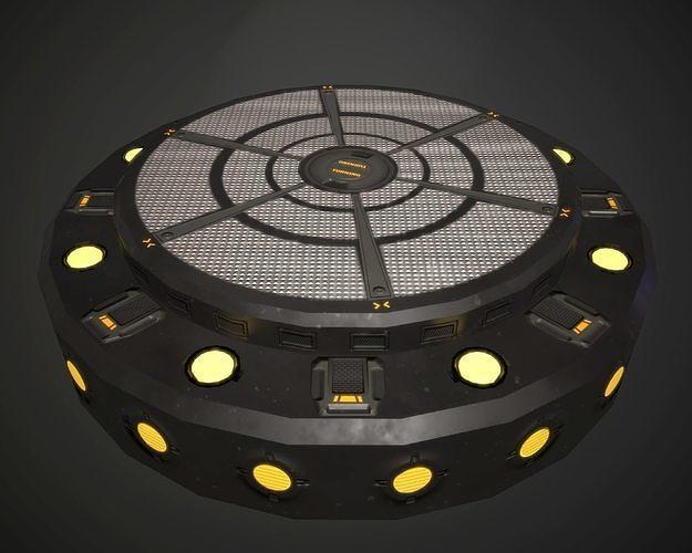 turntable spot base with animation 3d model obj mtl fbx 1