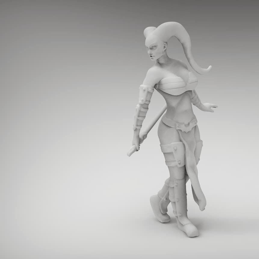 Tattoo Female Space Warrior