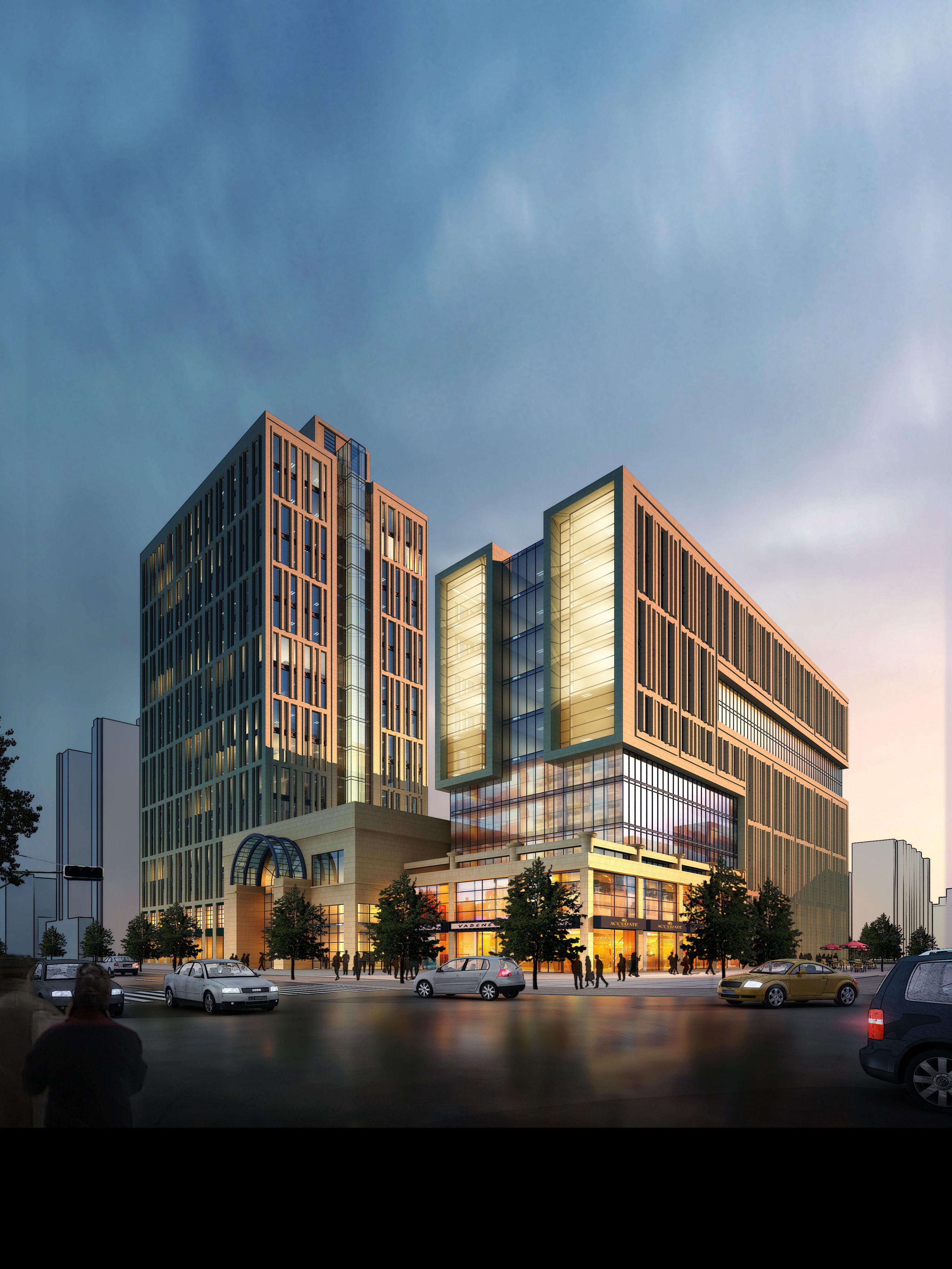 City park hotel office building design 21 3d model for Designhotel 21