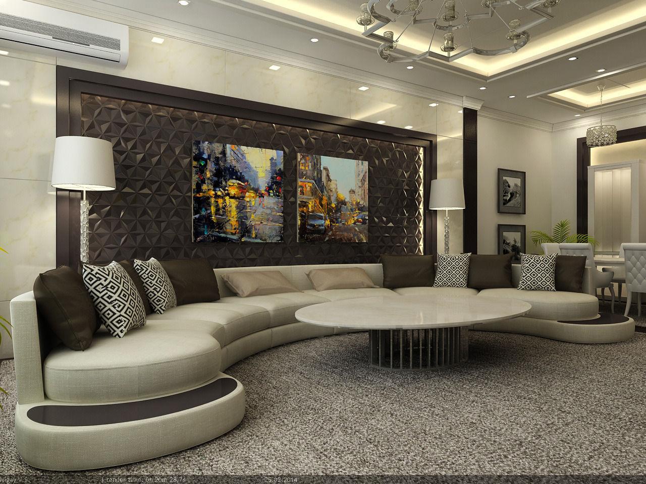 interior scene - flat 03 - living room | 3d model