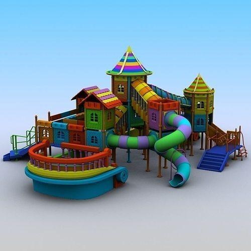 playground set 3d model max obj mtl 3ds fbx 1