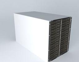 3D model Huawei E9000 Server Hosting Platform