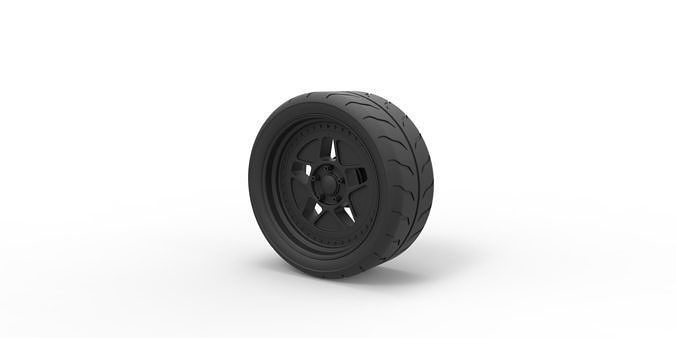 diecast wheel from hoonicorn rtr 3d model obj mtl stl 1